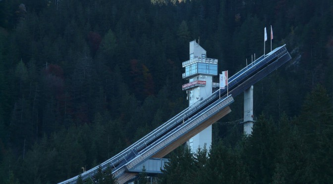 Die Skisprungschanze in Oberstdorf – eine der Stationen der Vier-Schanzen-Tournee